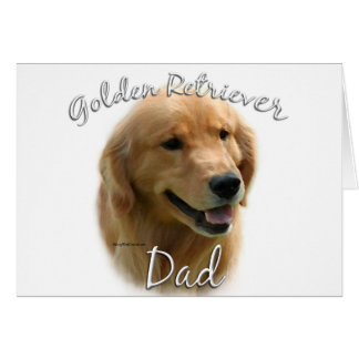 Golden Retriever Dad 2 Card