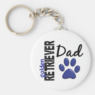 Golden Retriever Dad 2 Keychain