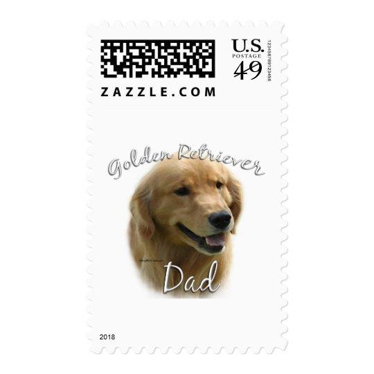 Golden Retriever Dad 2 Postage