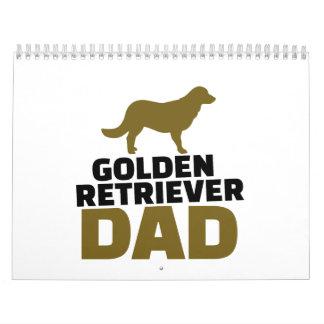 Golden Retriever Dad Wall Calendars
