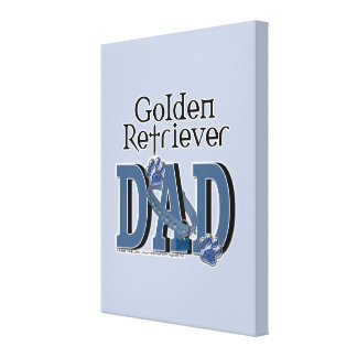 Golden Retriever DAD Gallery Wrap Canvas