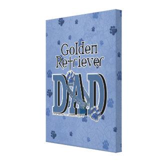 Golden Retriever DAD Stretched Canvas Print