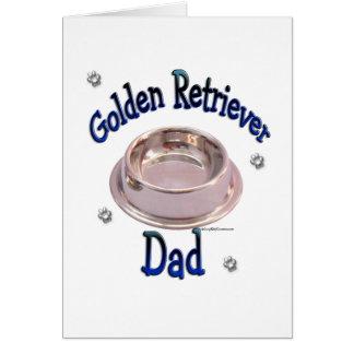 Golden Retriever Dad Card