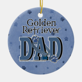Golden Retriever DAD Ceramic Ornament