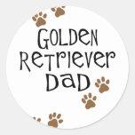 Golden Retriever Dad Classic Round Sticker