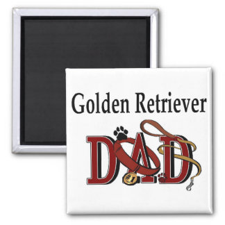 Golden Retriever Dad Gifts 2 Inch Square Magnet