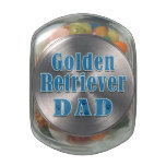 Golden Retriever Dad Jelly Belly Candy Jar