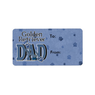 Golden Retriever DAD Label