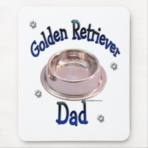 Golden Retriever Dad Mouse Pad