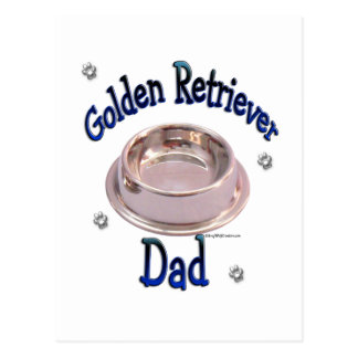 Golden Retriever Dad Postcard