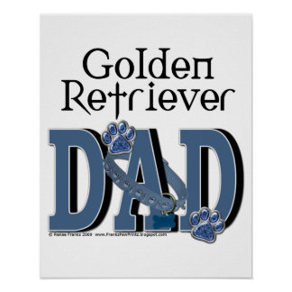 Golden Retriever DAD Poster