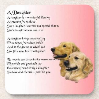 Golden Retriever - Daughter Poem Coaster