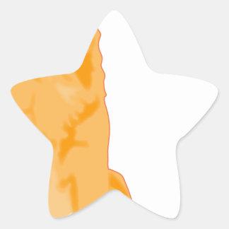 Golden retriever de Heidii Randall cavado Calcomanía Forma De Estrella