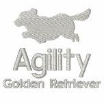 Golden retriever de la agilidad sudadera bordada