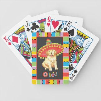 Golden retriever de la fiesta cartas de juego