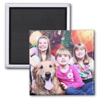 Golden retriever de la Navidad - Wrigley Imanes Para Frigoríficos