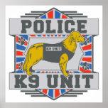 Golden retriever de la policía de la unidad K9 Impresiones