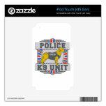 Golden retriever de la policía de la unidad K9 iPod Touch 4G Calcomanías