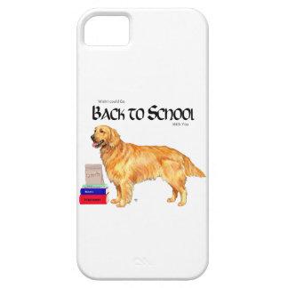 Golden retriever de nuevo a escuela iPhone 5 carcasas