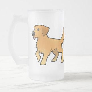 Golden retriever del dibujo animado taza de café