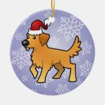 Golden retriever del navidad ornaments para arbol de navidad