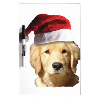 Golden retriever del navidad pizarras blancas