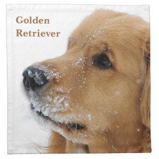 Golden retriever del perro de la nieve servilleta
