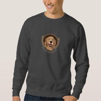 Golden retriever del perro sudadera con capucha
