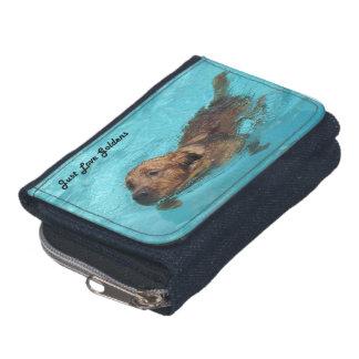 Golden Retriever Denim Wallet, Dog Swim Wallet