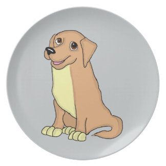 Golden retriever design plates