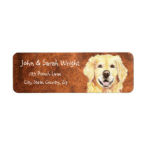 Golden Retriever  Dog Address Label