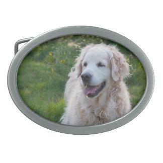 Golden Retriever dog beautiful photo belt buckle