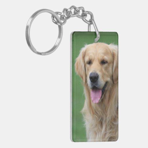 Golden Retriever dog beautiful photo portrait gift Double-Sided Rectangular Acrylic Keychain