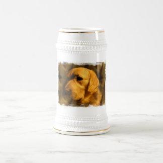 Golden Retriever Dog Beer Stein