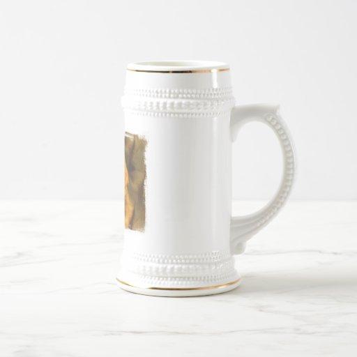 Golden Retriever Dog Beer Stein Mug