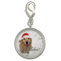 Golden Retriever Dog Believe Christmas Charm