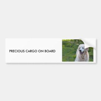 Golden Retriever dog bumper sticker gift idea