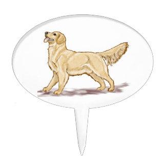 Golden Retriever Dog Cake Picks