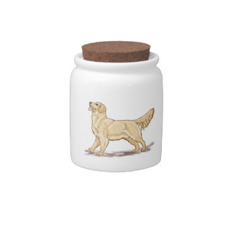 Golden Retriever Dog Candy Dishes