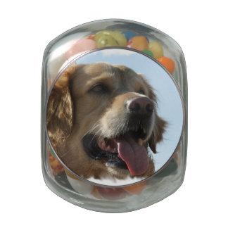 Golden Retriever Dog Glass Candy Jars
