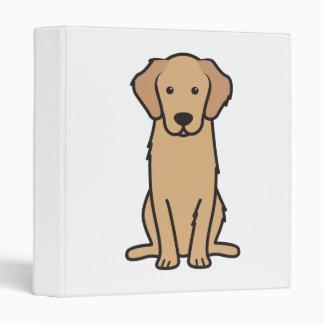 Golden Retriever Dog Cartoon 3 Ring Binder