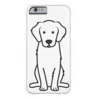 Golden Retriever Dog Cartoon Barely There iPhone 6 Case