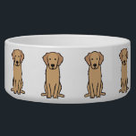 "Golden Retriever Dog Cartoon Bowl<br><div class=""desc"">Golden Retriever. Design by DogBreedCartoon</div>"
