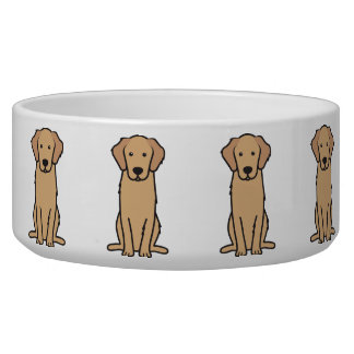 Golden Retriever Dog Cartoon Bowl