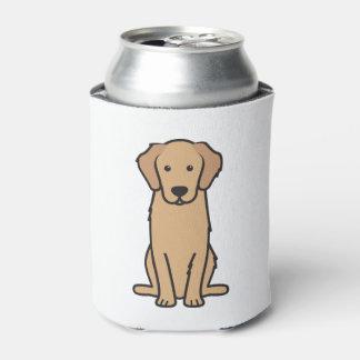 Golden Retriever Dog Cartoon Can Cooler