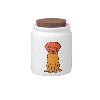 Golden Retriever Dog Cartoon Candy Dishes