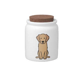 Golden Retriever Dog Cartoon Candy Dish
