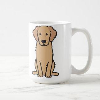 Golden Retriever Dog Cartoon Classic White Coffee Mug