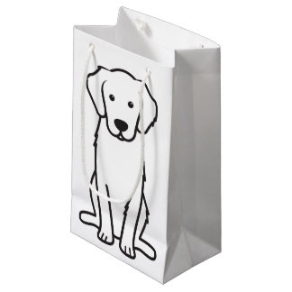 Golden Retriever Dog Cartoon Small Gift Bag