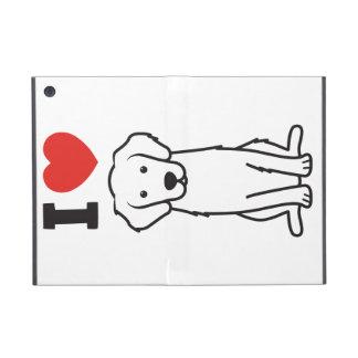 Golden Retriever Dog Cartoon iPad Mini Covers
